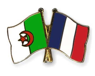 Pin's de l'amitié drapeaux Algérie-France Flags