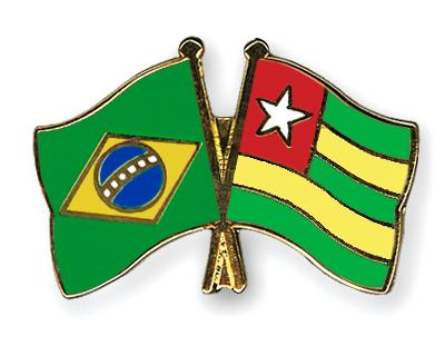Pin's de l'amitié  Bresil-Togo