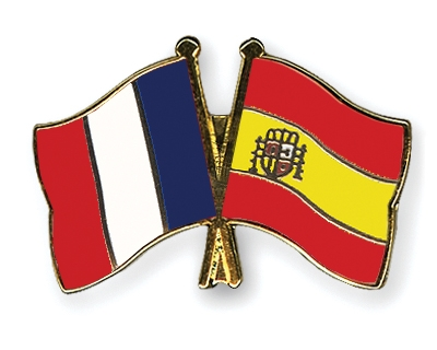 Pin S De L Amitie Drapeaux France Espagne Flags