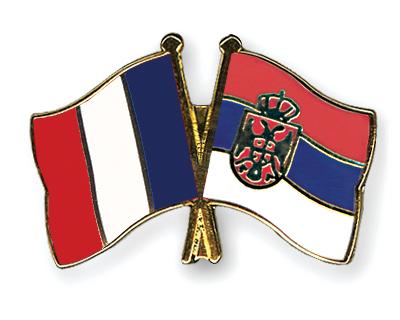 pin 39 s de l 39 amiti drapeaux france serbie sans armoiries flags. Black Bedroom Furniture Sets. Home Design Ideas