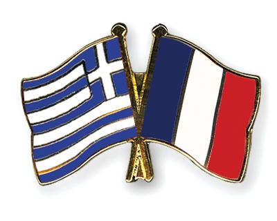 Αποτέλεσμα εικόνας για drapeau grec et français