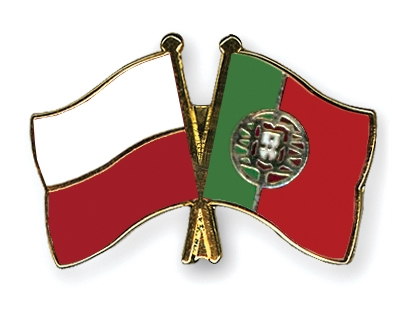 Pin's de l'amitié drapeaux Pologne-Portugal Flags
